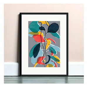 Baby Rubber Plant A4 Art Print