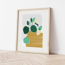 Load image into Gallery viewer, Pilea Mustard Art Print