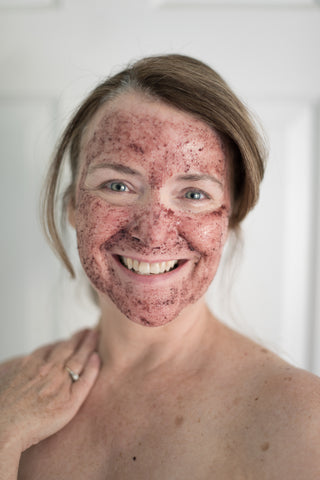 Me Time Botanicals 50 year old Woman in Face Mask