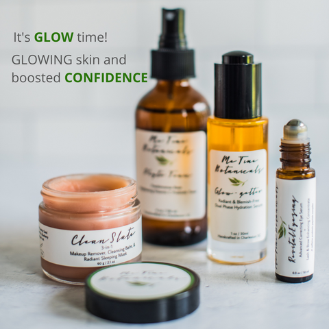 Minimalistic Clean Eco friendly Skincare for acne prone skin for youthful healthy glowing kin
