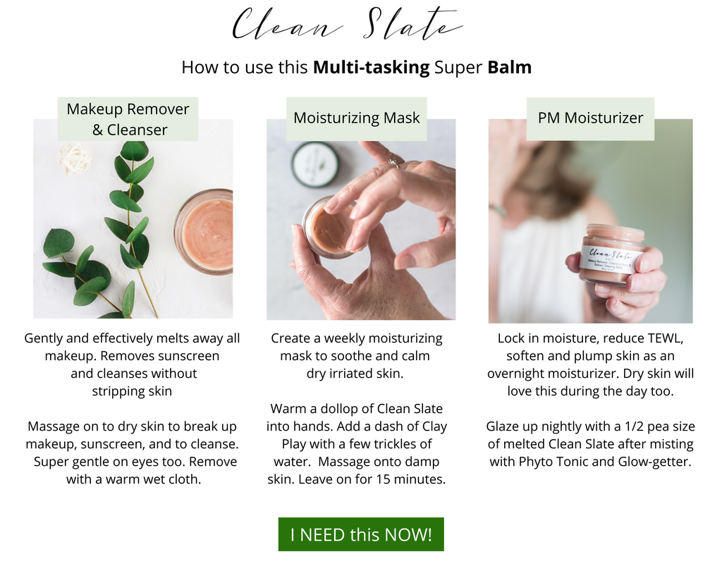 All in one Multi-tasking cleansing balm, makeup remover, and moisturizing mask