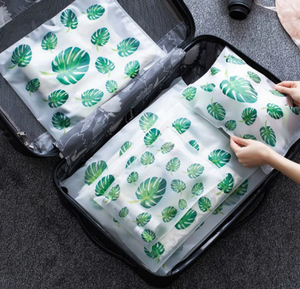 Green Leaves Storage Bag - Set of 4