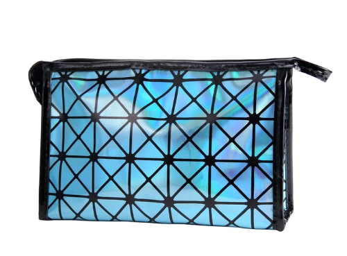 Holographic Cosmetic Bag - Blue
