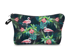 Tropical Flamingo Small Makeup Bag