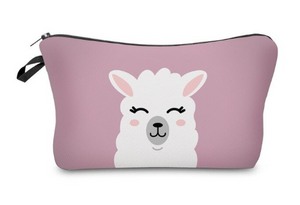 Cute Llama Small Makeup Bag