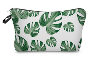 Green Leaf Small Makeup Bag