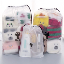Load image into Gallery viewer, Cat Drawstring Bag - Set of 3