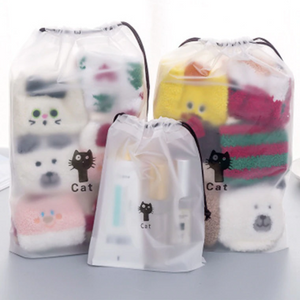 Cat Drawstring Bag - Set of 3