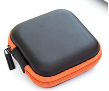 Load image into Gallery viewer, Small Gadget Case - Black/Orange
