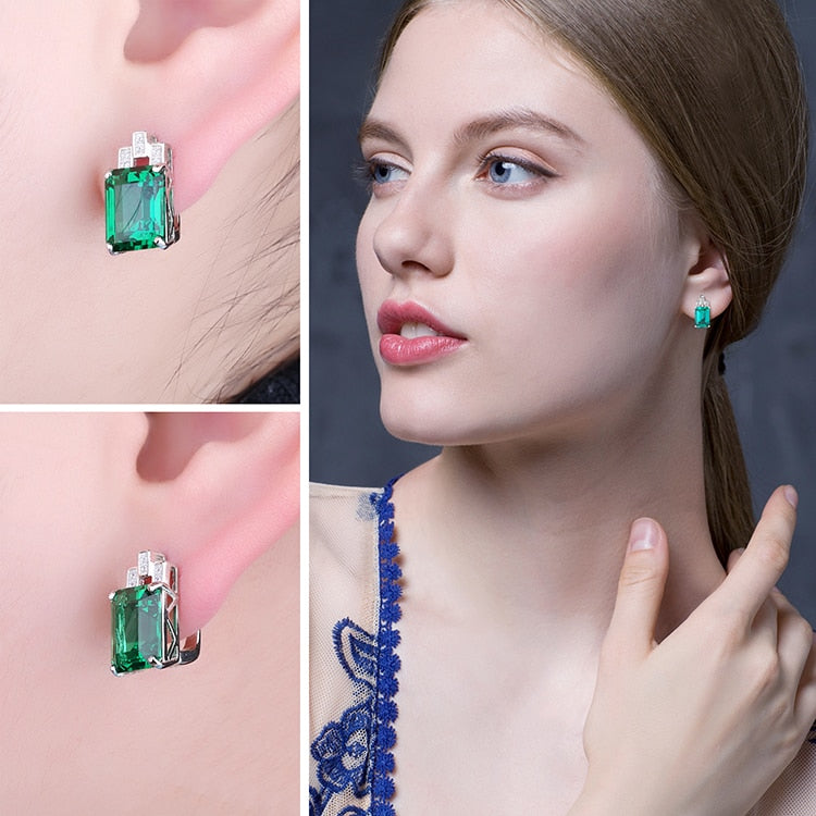 Fashion Nano Emerald Hoop Earrings - RHEA LIGHT
