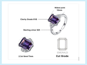 Alexandrite Sapphire Ring Engagement Ring Adjust Circle - RHEA LIGHT