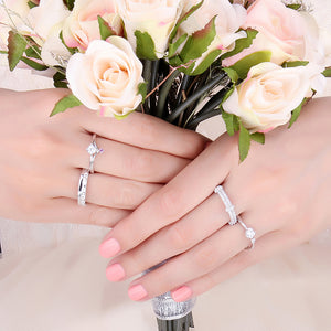 Fashion Wedding Rings Anniversary Eternity Rings - RHEA LIGHT