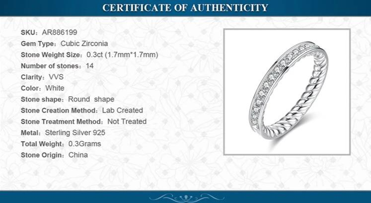 Full Diamond White Stone Eternity Band Wedding Anniversary Ring - RHEA LIGHT
