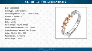 MOM Family Love Rose Gold Ring