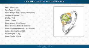 Fashion Peridot Engagement Ring