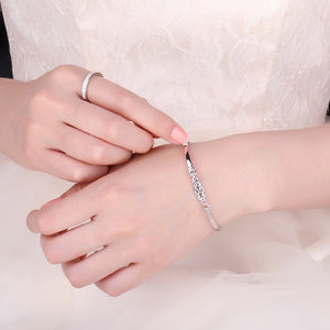Crown Celtic Knot Bracelet 925 Sterling Silver - RHEA LIGHT