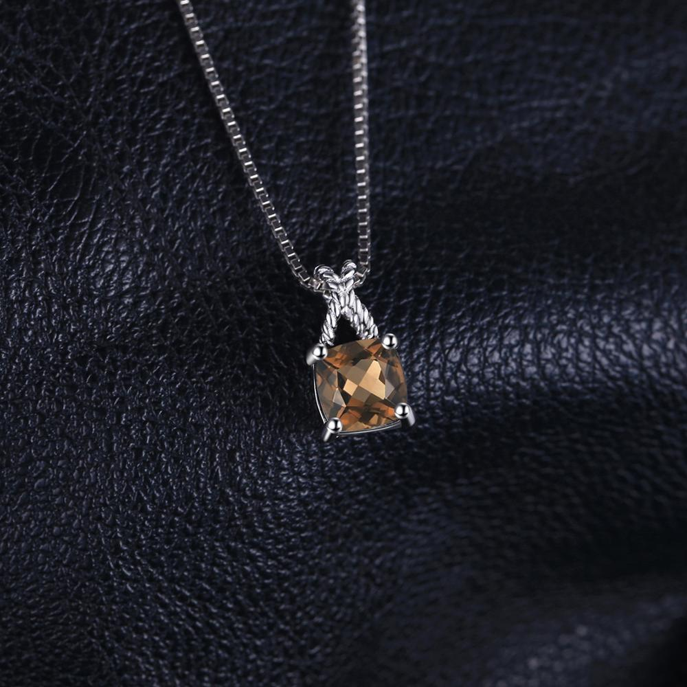 Infinity Square Natural Smoky Quartz Pendant Necklace - RHEA LIGHT