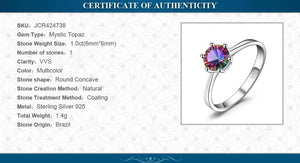 Genuine Rainbow Mystic Topaz Ring Engagement Ring - RHEA LIGHT