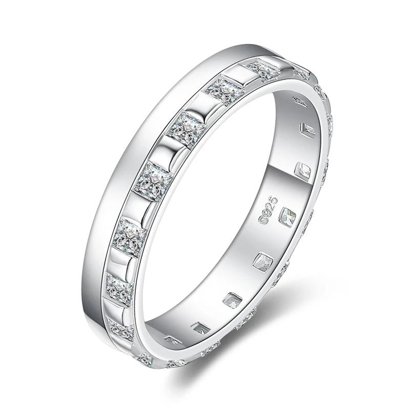 Gradient Design Square Wedding Eternity Band Ring - RHEA LIGHT