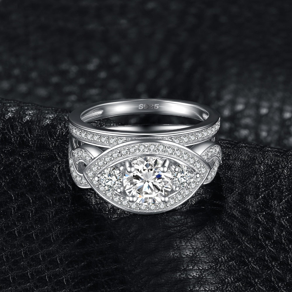 Infinity Engagement Ring Set 925 Silver Bridal Sets - RHEA LIGHT