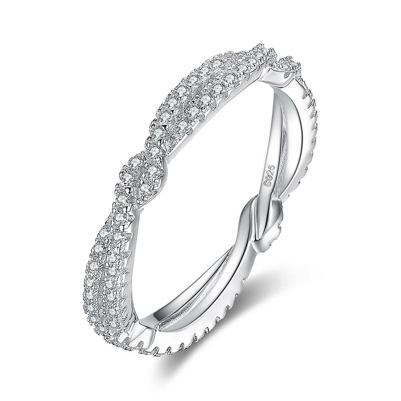 Infinite Wedding Rings Stackable Anniversary Ring Eternity Band - RHEA LIGHT