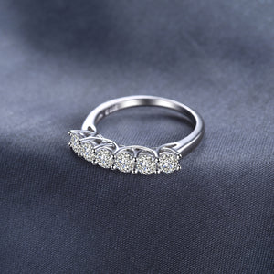 Six Stone Diamond White  Wedding Rings Anniversary Eternity Band Jewelry - RHEA LIGHT