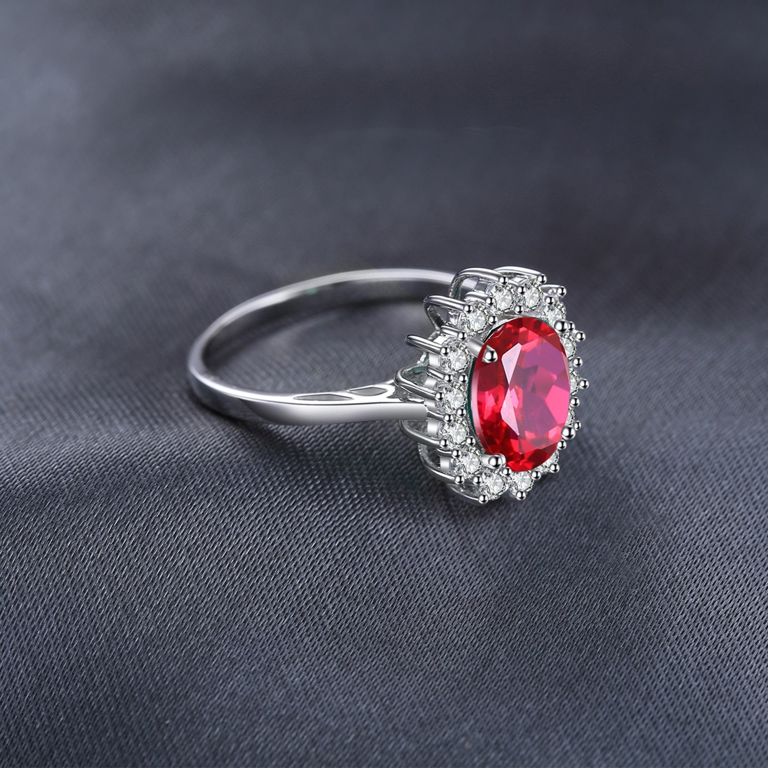 Princess Diana Red Ruby Ring Engagement Ring - RHEA LIGHT