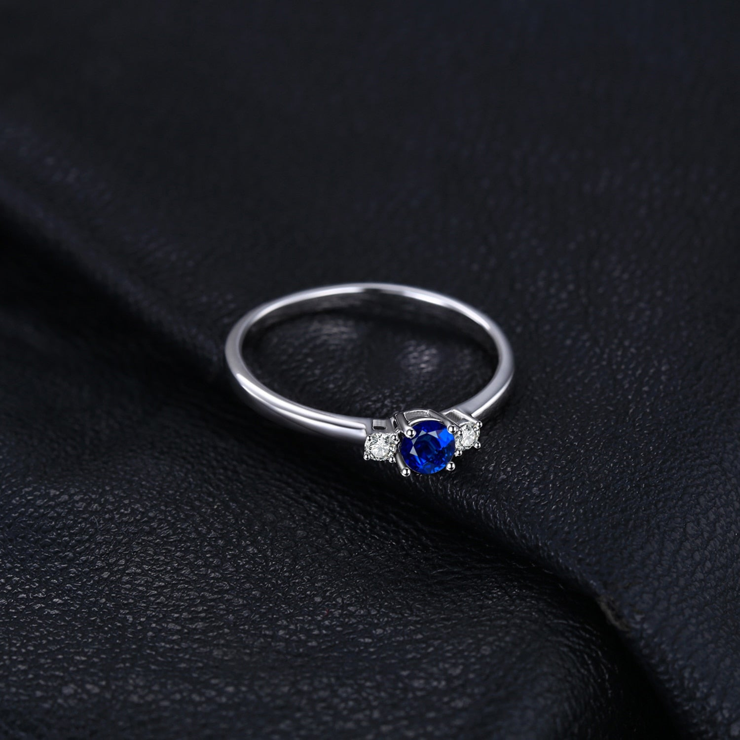 Classic Blue Sapphire Ring Promise Engagement Ring - RHEA LIGHT