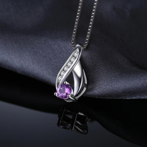 Infinity Natural Amethyst Pendant Necklace - RHEA LIGHT
