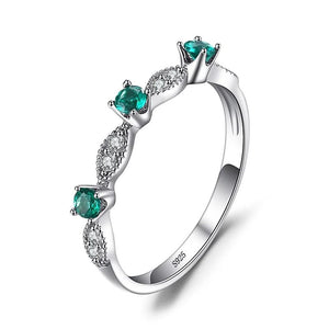 Nano Emerald Ring Wedding Band Rings - RHEA LIGHT