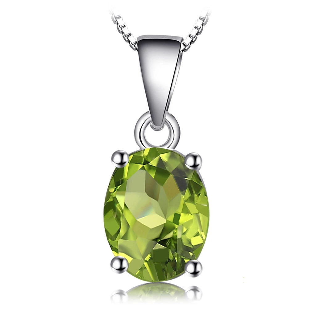 Natural Peridot Pendant Necklace Gemstones Necklace - RHEA LIGHT