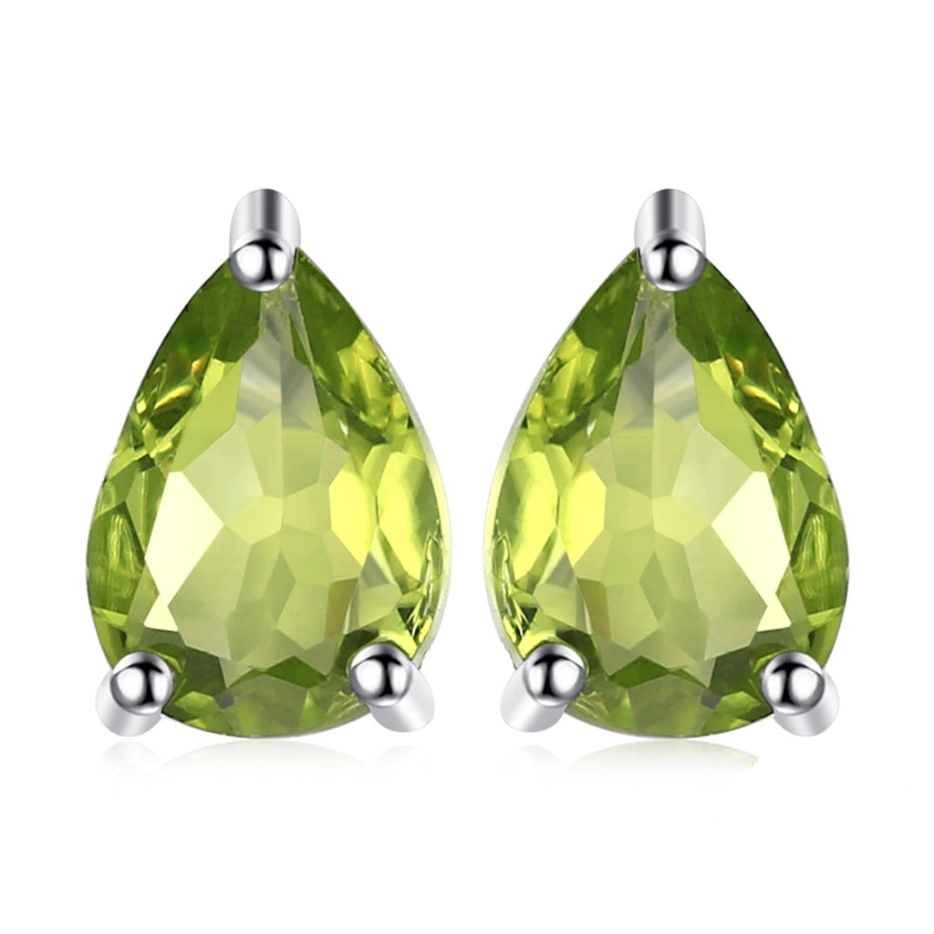 Genuine Peridot Stud Earrings - RHEA LIGHT