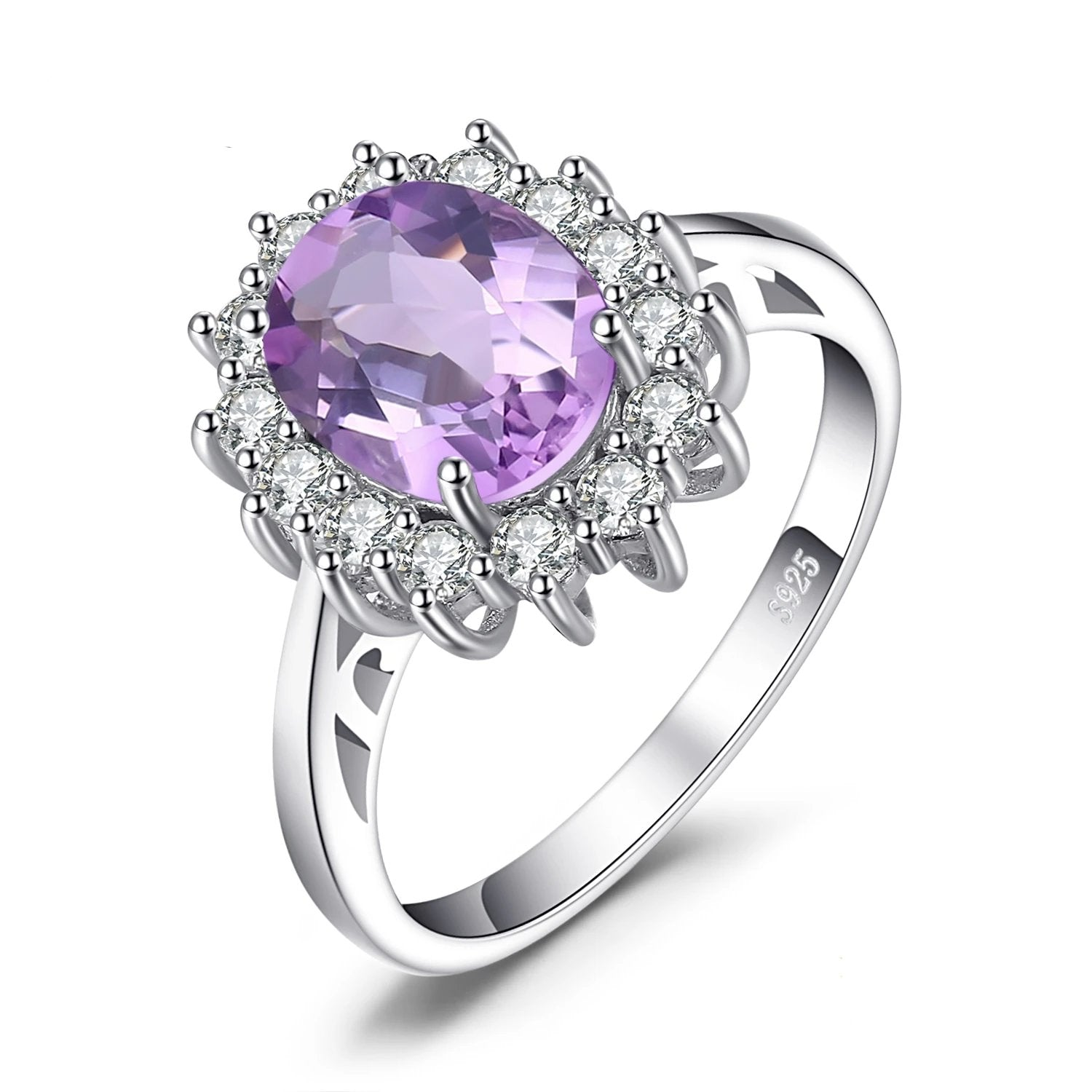 Princess Diana Genuine Amethyst Ring Engagement Ring - RHEA LIGHT