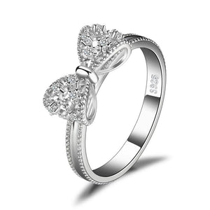 Bow knot Anniversary Cubic Zirconia Rings - RHEA LIGHT
