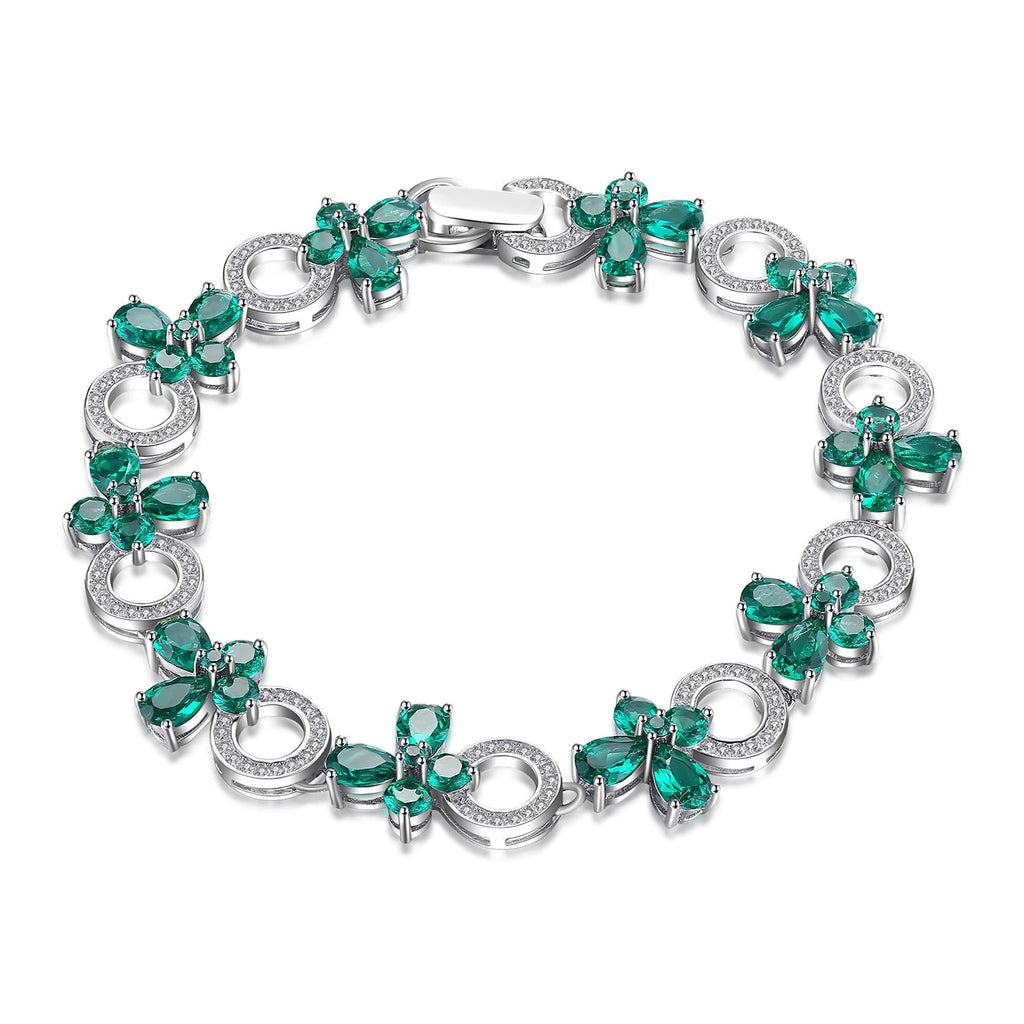 Butterfly Shape Emerald Bracelet Fine Jewelry - RHEA LIGHT