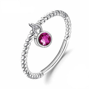 Ruby Ring Party Rope Band Stackable Ring - RHEA LIGHT