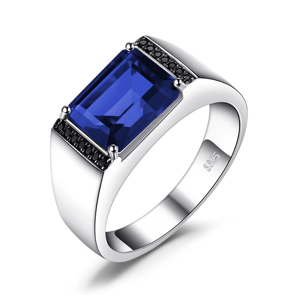 Men Sapphire Natural Black Spinel Ring
