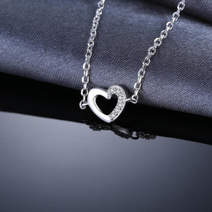 Love Heart Bracelet 925 Sterling Silver Bangles - RHEA LIGHT