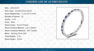 Blue Spinel Bands Ring  Wedding Rings Eternity Band - RHEA LIGHT