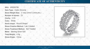 Anniversary 925 Silver Rings Eternity Stackable  Ring Set - RHEA LIGHT