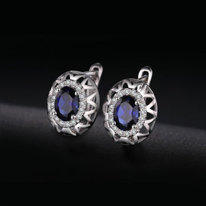 Terndy 2ct Blue Sapphire Hoop Earrings - RHEA LIGHT