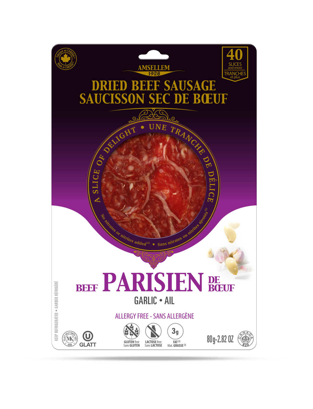 Saucisson sec / Dried Salami PARISIEN GARLIC