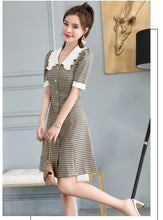 Load image into Gallery viewer, 2020 Summer Korean Style Mid-Waist Fashion Short-Sleeve Office Lady Mini Dress