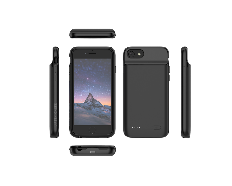 Black charging case for iPhone 6 6s 7 8 SE