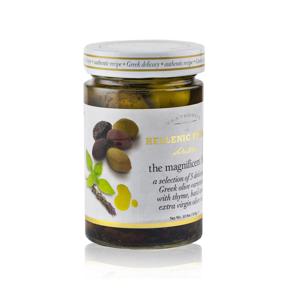 The Magnificent Five Gourmet Olives in EVOO - Olive Grove Market