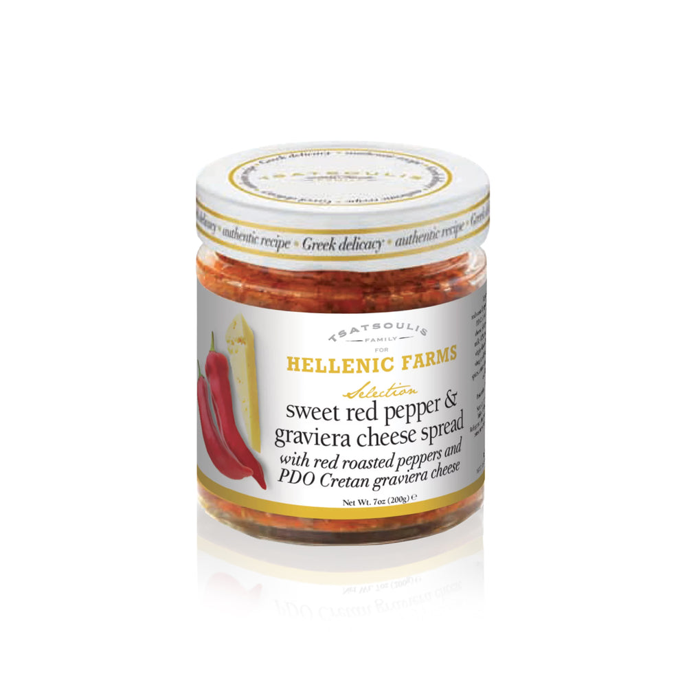 Graviera Cheese and Sweet Red Pepper Spread - Olive Grove Market-HELLENIC FARMS-Spread/Dip