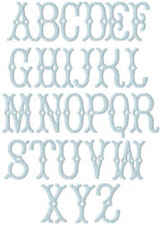 Avery Fill Embroidery Font