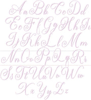 Bentley Mabel Script Embroidery Font 4x4