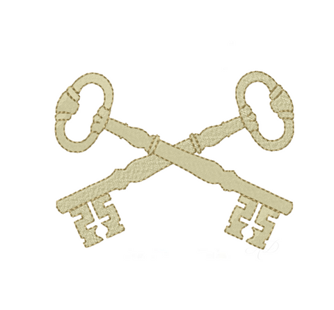 Key Monogram Embroidery Design