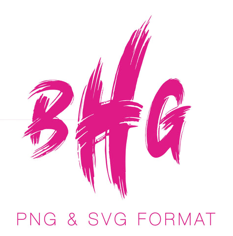 Paint Brush PNG & SVG Monogram Font